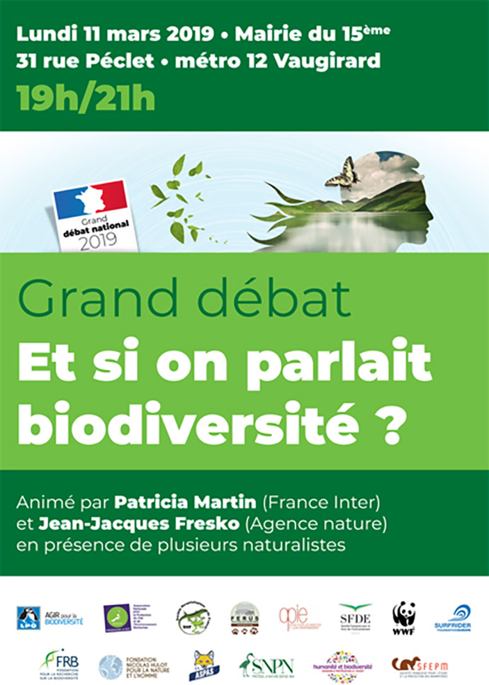 "[Grand débat national] ""Et si on parlait biodiversité ?"" – Rendez-vous le 11 mars !"