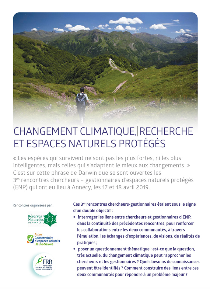 [3es rencontres espaces naturels protégés – recherche] Découvrez les actes