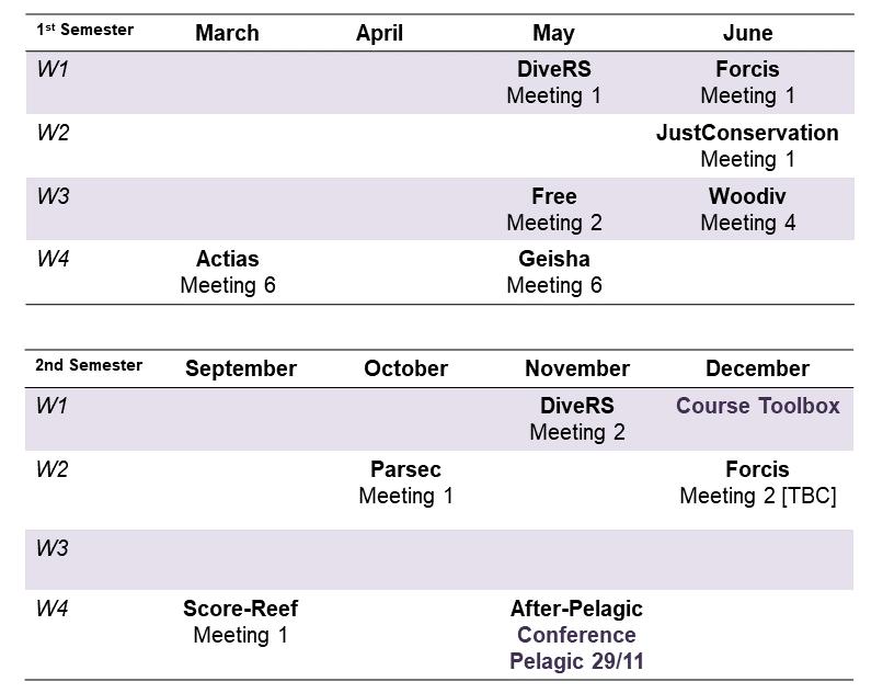 CESAB Calendar 2019