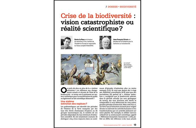 [Publication] Crise de la biodiversité : vision catastrophiste ou réalité scientifique ?